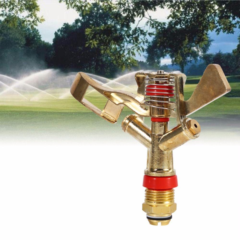 Vgeby 1 2 Inch Water Sprinkler Spray Nozzle Connector Copper Rotate Rocker Arm Garden Irrigation System Garden S Water Sprinkler Sprinkler Irrigation Sprinkler