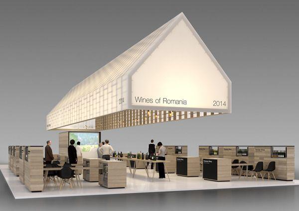 Exhibition Stand Design Competition : Romanian wine association pavilion competition finalist by