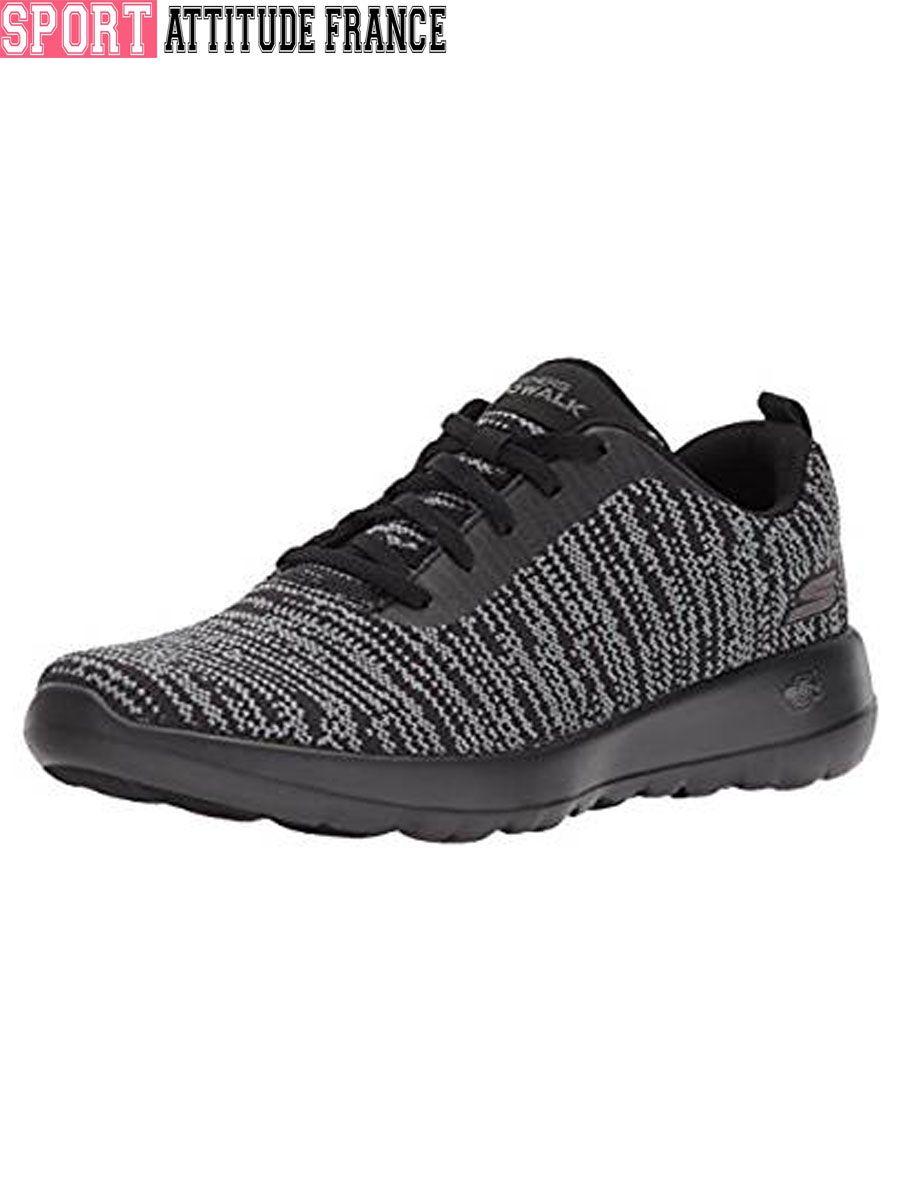 GO WALK JOY Femmes Chaussures Baskets De Sport En Maille à Lacets Conforts Noir 1TIUL