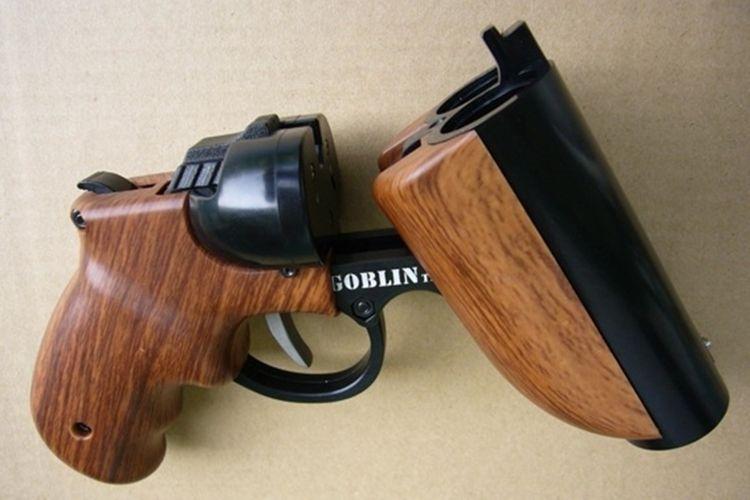 Paintball double barrel shotgun