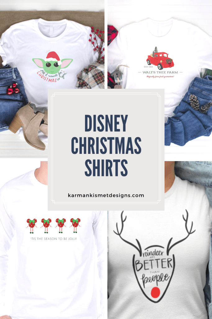 Check out these adorable Disney Christmas shirts to bring some magic to the holiday season! #disney #disneychristmas #disneychristmasshirt #disneyholiday #disneystyle