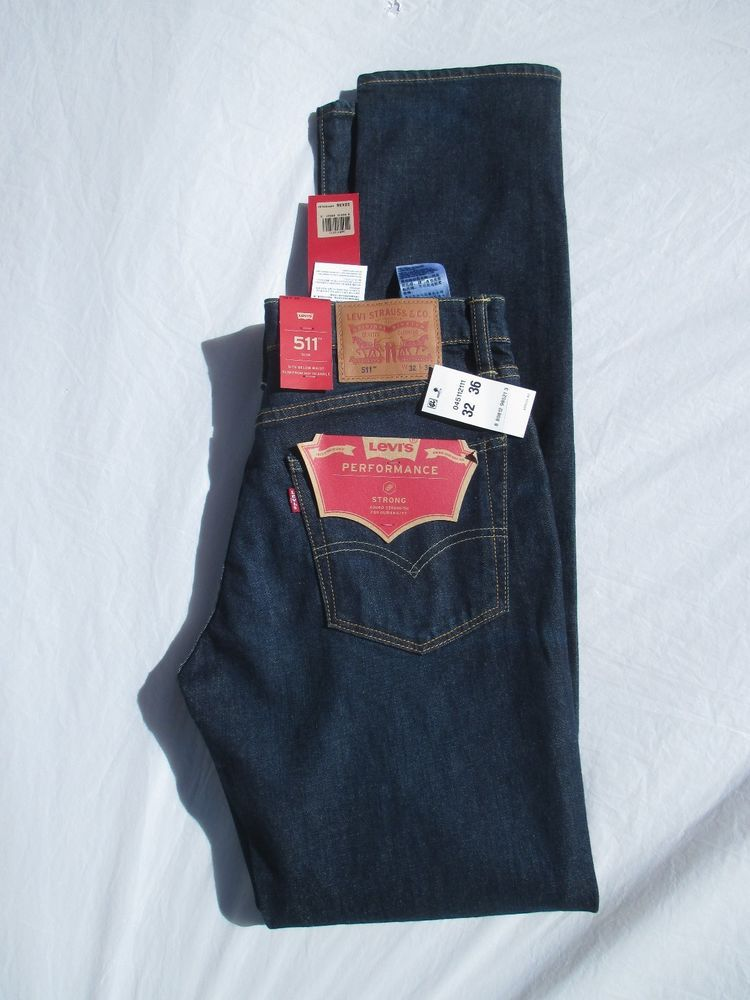 a5336573dd8 Men Levis Jean New 511 Jean Performance Strong Dark 045112111, Dyneema,  Strong #Levis #Slim