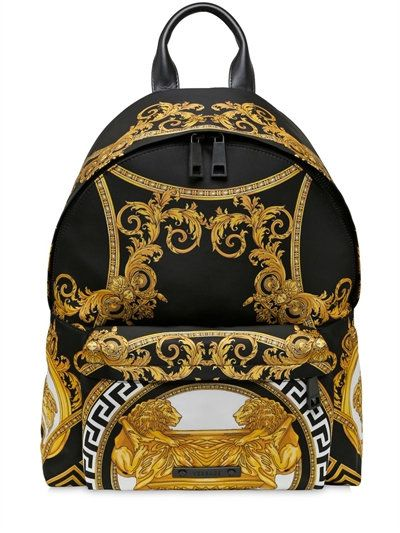 33c9221624 VERSACE COUPE DES DIEUX PRINTED NYLON BACKPACK