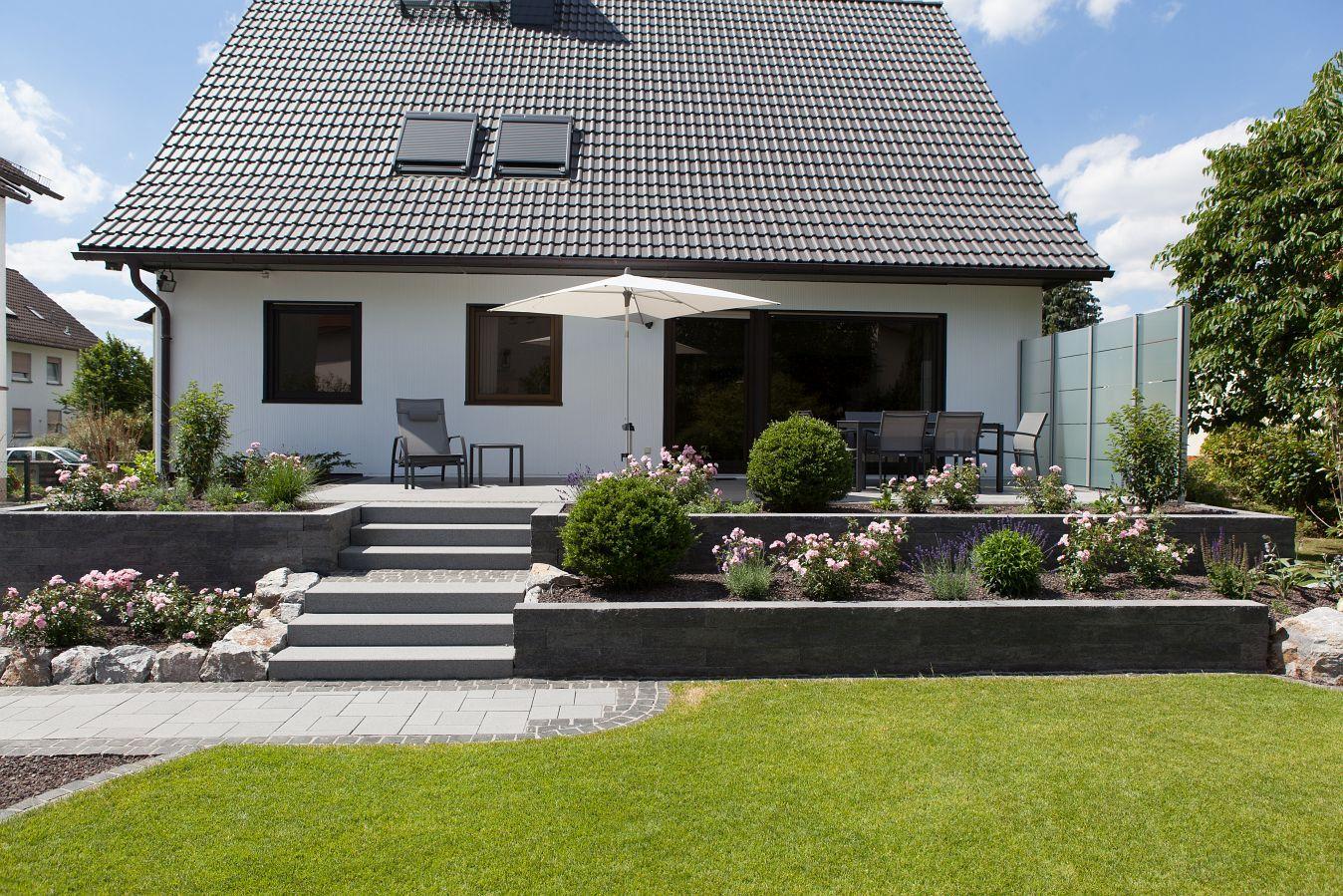Renovierung Eingang und Terrasse   Rinn Betonsteine und ...