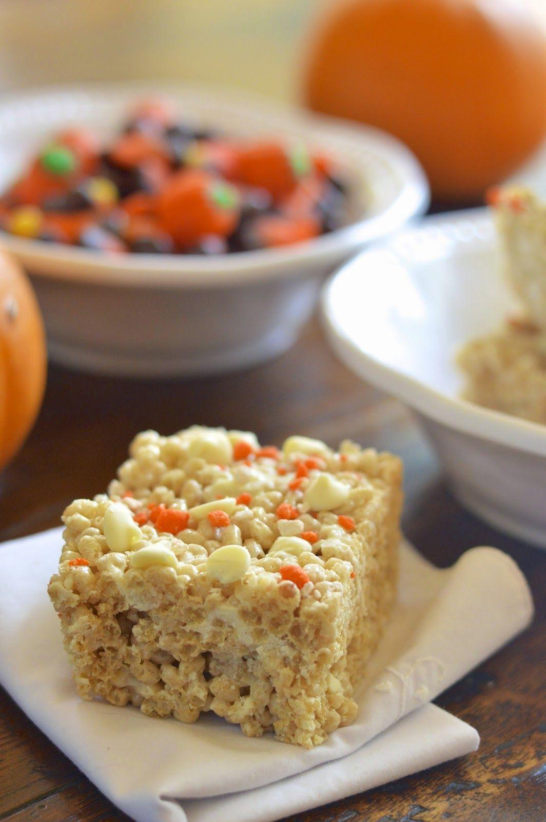 Pumpkin Spice White Chocolate Rice Krispie Treats {Gluten ...