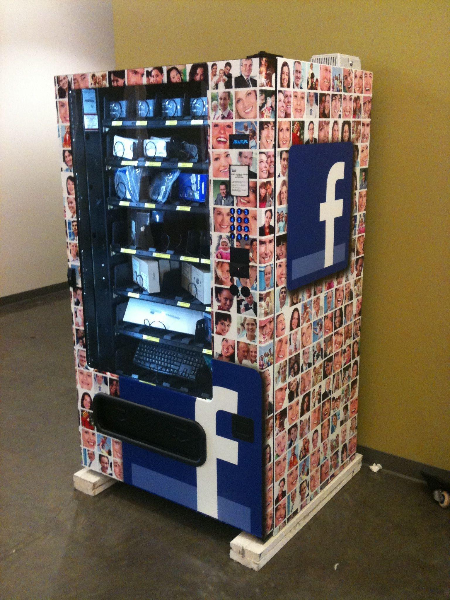 Hair accessories vending machines - Facebook S Vending Machines A Coke Or A Keyboard