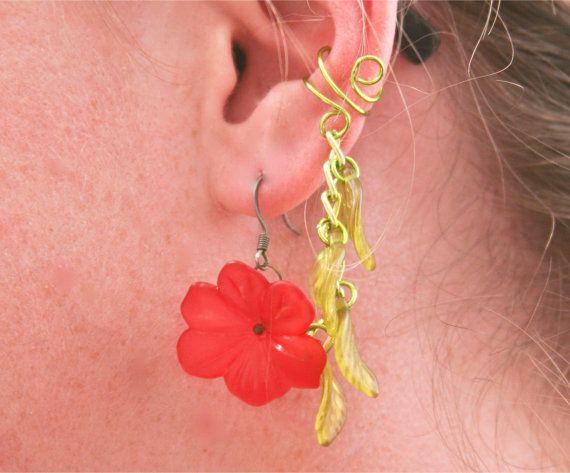 Dreaming of the Tropics Bajoran Ear Cuff by BarbedLotusDesigns, $13.00