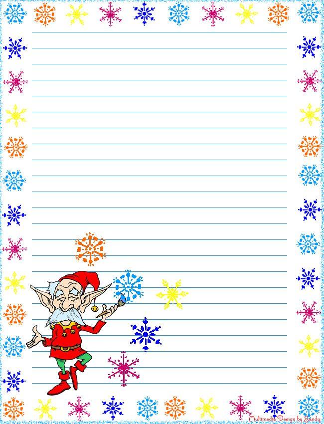 Snow Elf Printable Stationery Pinterest Free printable