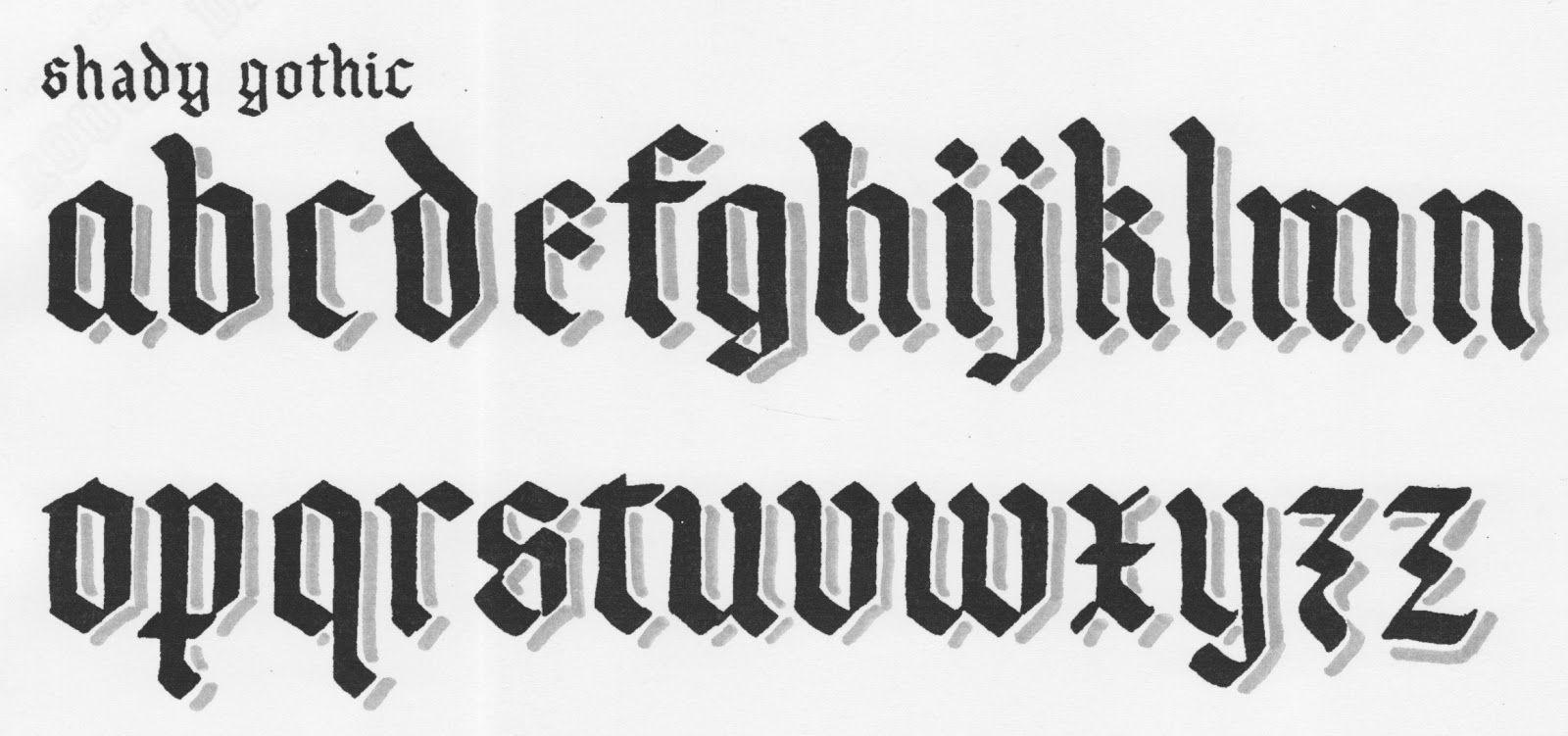 Fonts Typography Goth Letterpresses Shady Gothic