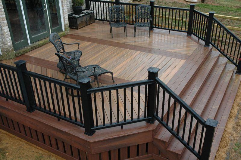deck ideas. Fiberon Composite IPE Deck With Rosewood Inlays Deck Ideas