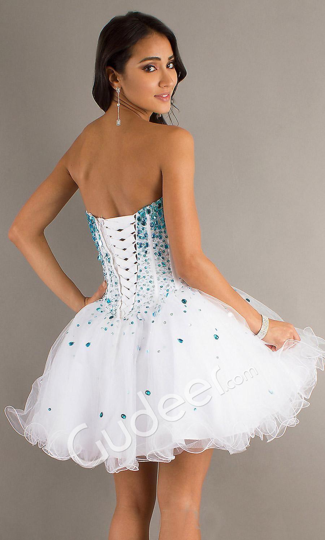 Short Strapless Sweetheart Corset Dress