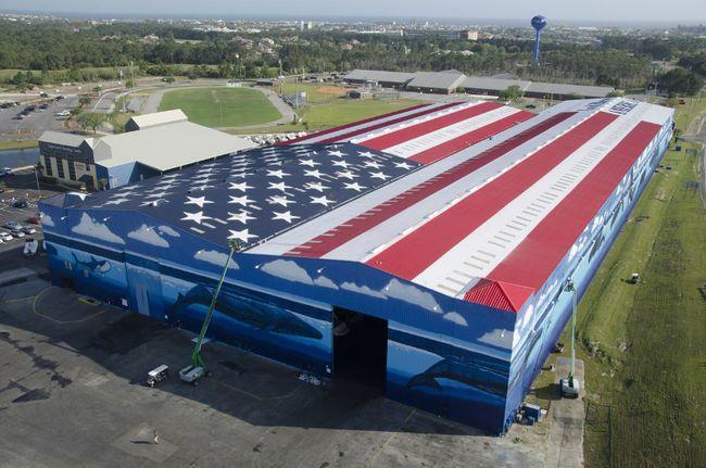 World S Largest Flag Mural A Record Holder American Flag Art Flag Art World
