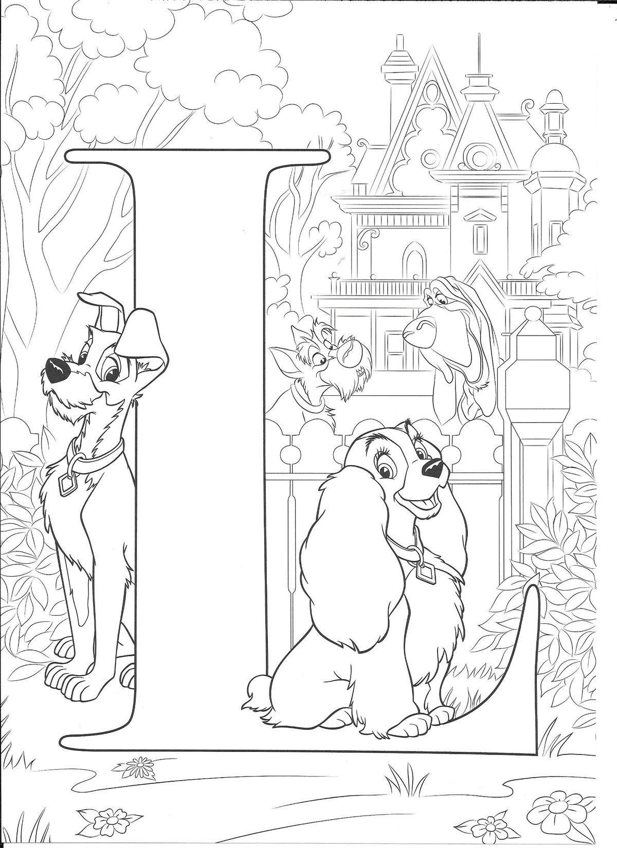 Amazing Disney Alphabet alphabet disney Abc coloring
