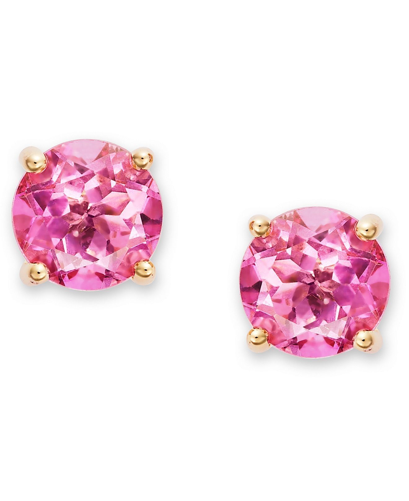 0367b67de Victoria Townsend 18k Gold over Sterling Silver Earrings, Pink Topaz Stud  Earrings (3 ct. t.w.) - Necklaces - Jewelry & Watches - Macy's