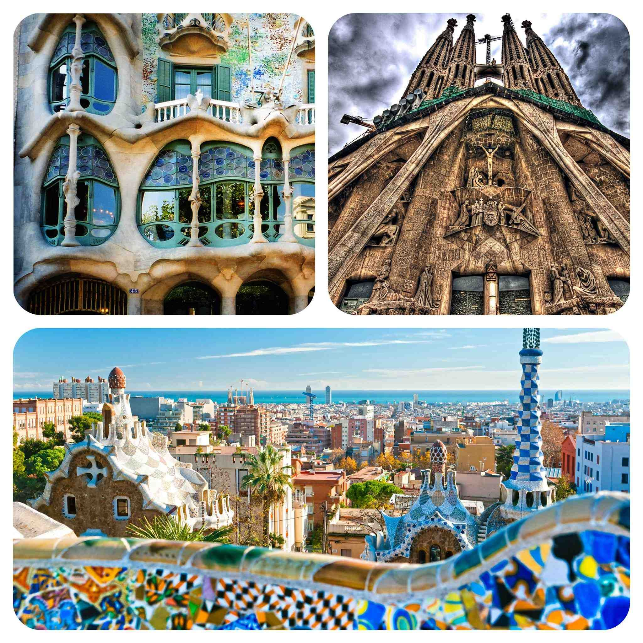 Where Should I Spend Week Vacation In Spain: Barcelona Collage