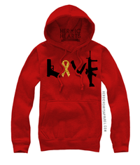 Love Weapons Red Friday Top