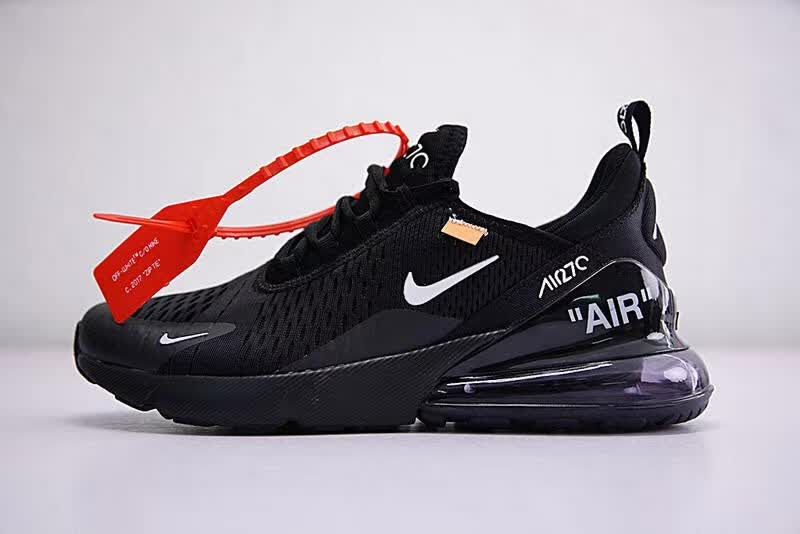 low priced 137b3 8db73 Off white x Nike Air Max 270 OW Virgil Abloh Black Women Men