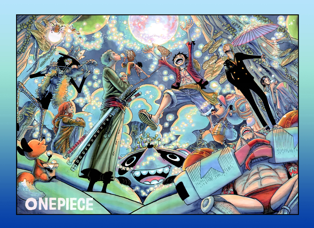 One Piece Color Spread : Chapter 609 (Still one of my favorites. So beautiful…