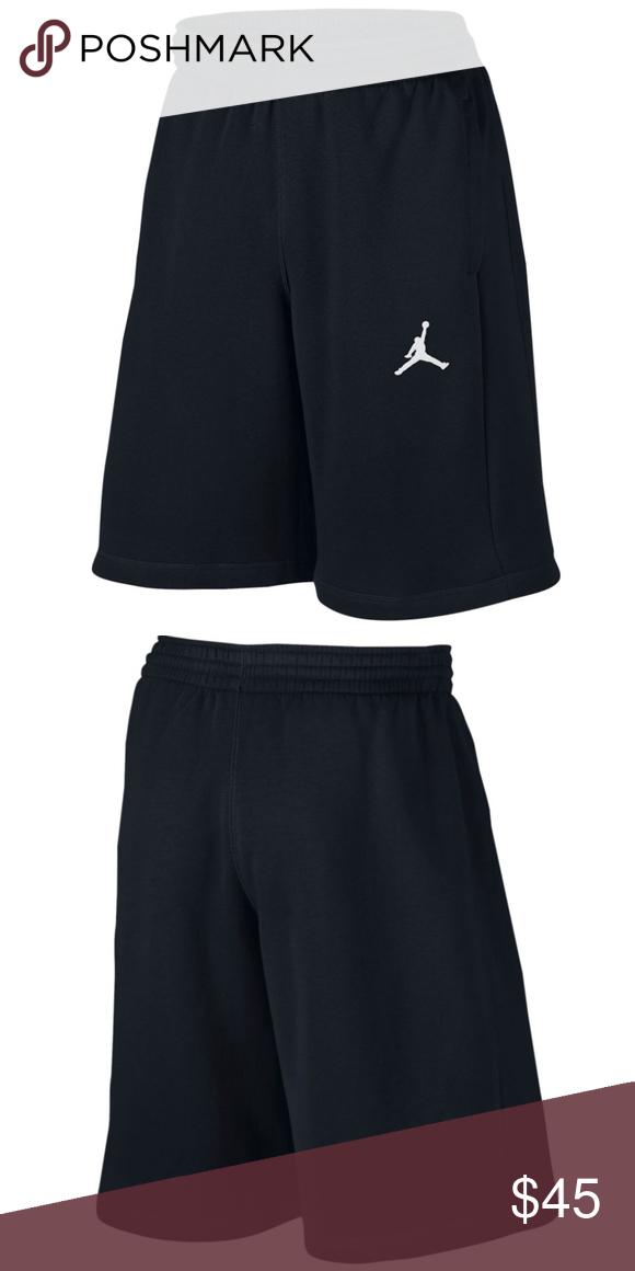 d23acfc1d226 Nike AIR JORDAN FLIGHT Men s Fleece Shorts - Black Brushed French terry  fabric has a soft