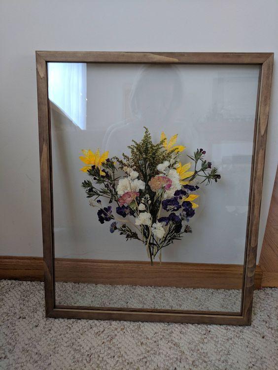 I Pressed My Wedding Bouquet Weddingplanning Diy Decor Home Diy Diy Home Decor