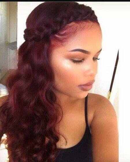 Long Hair W A Wrap Around Goddess Braid Wine Hair Hair Styles Natural Hair Styles