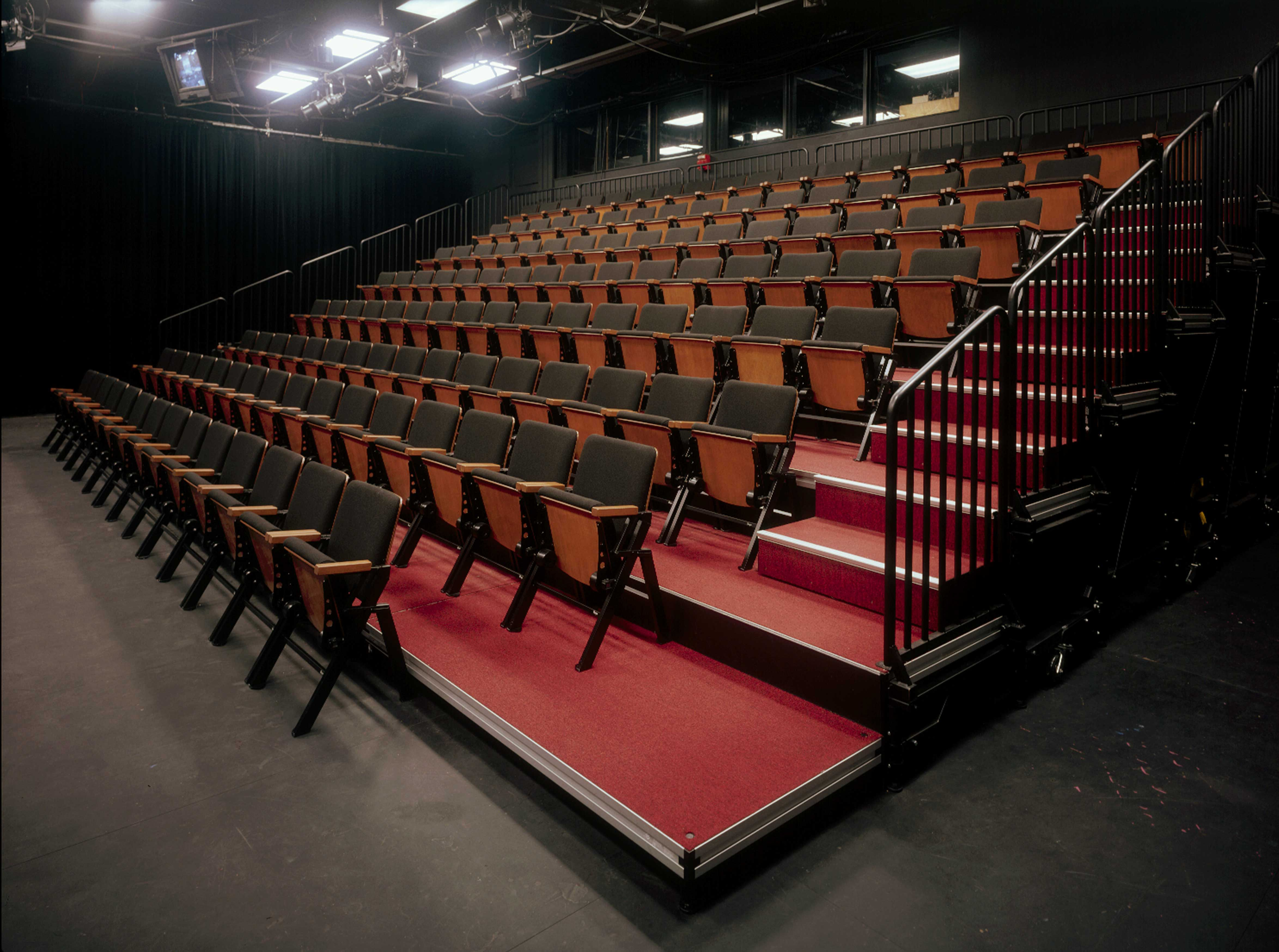 Audience Seating Risers Theater And Production Solutions Blog Theater Seating Seating Plan Black Box