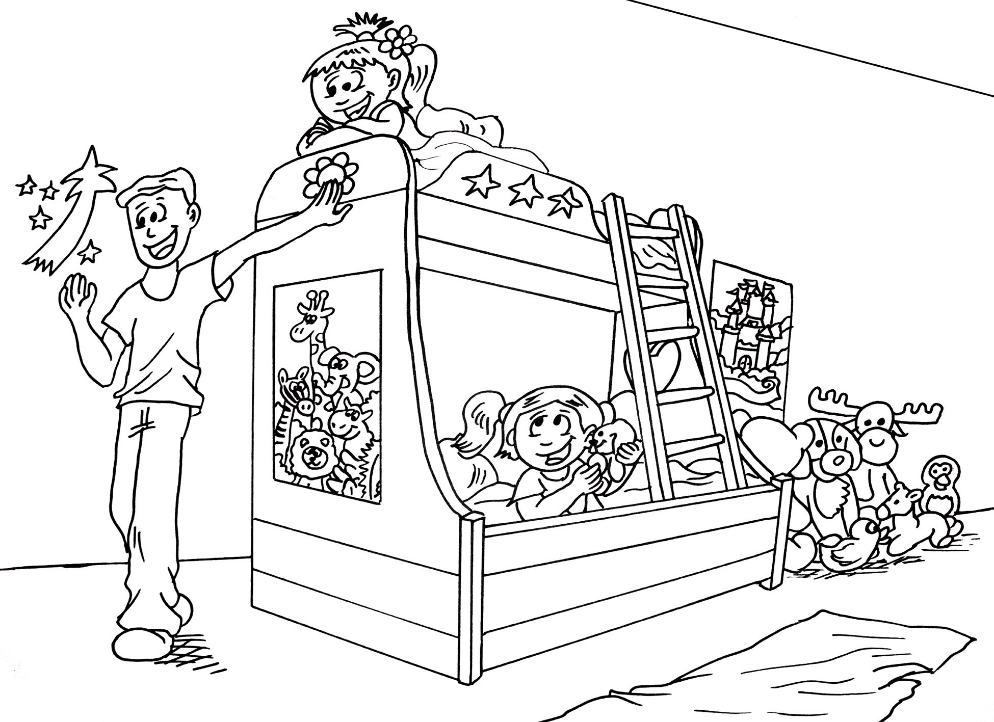 Coloring pages for bedroom - We Have A Coloring Page For You This Is My Bedroom And Cammy S Too Go To Www Findthecutes Com For More Info On Our Fun Search Book