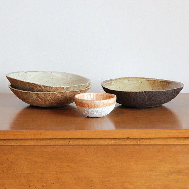 Materia Lumina Handmade Clay Bowls With Milk And Honey Tone Glazes Ceramics Nofilter Clay Bowl Decorative Bowls Ceramic Pottery
