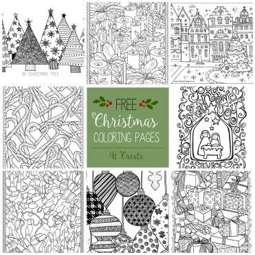 Free Printable Adult Coloring Pages | Nadal-Christmas | Pinterest ...