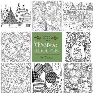 Free Christmas Adult Coloring Pages - U Create | Detalles Navideños ...