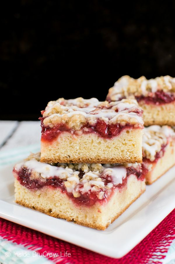 This Coffee Cake Is Topped With A Crisp Topping And Cherry Pie Filling Perfect