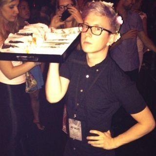 Tyler Oakley at the VMA pre-party