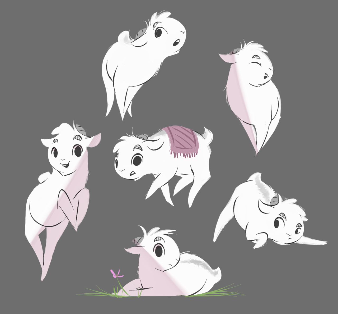 More Goat Doodles Now With Style Animal Drawings Character Art Animal Art Projects