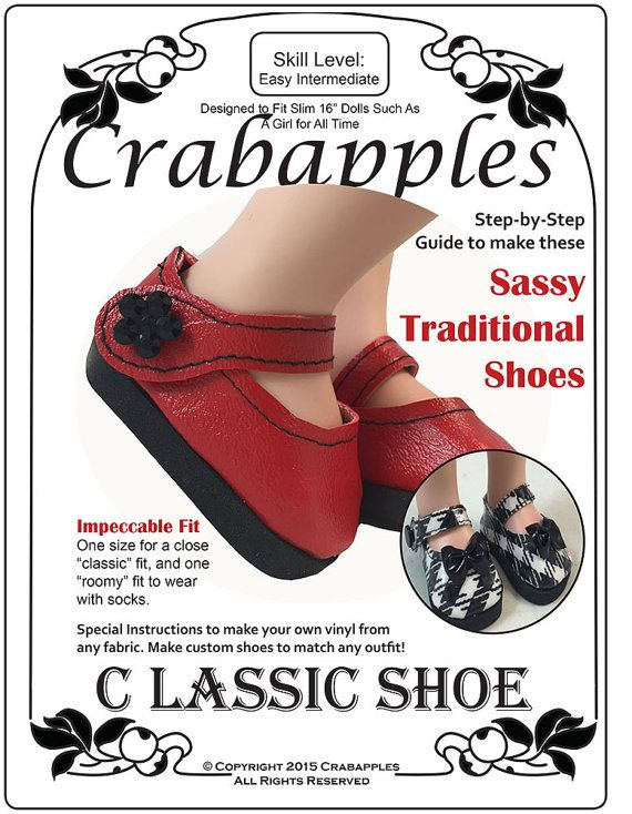 49b5989711764 Classic Shoes - A Girl for All Time - PDF Pattern - Mary Janes ...