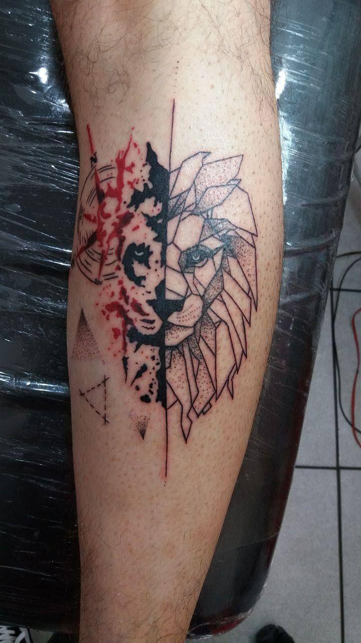 lion tattoo design geometric tattoo splash tattoo