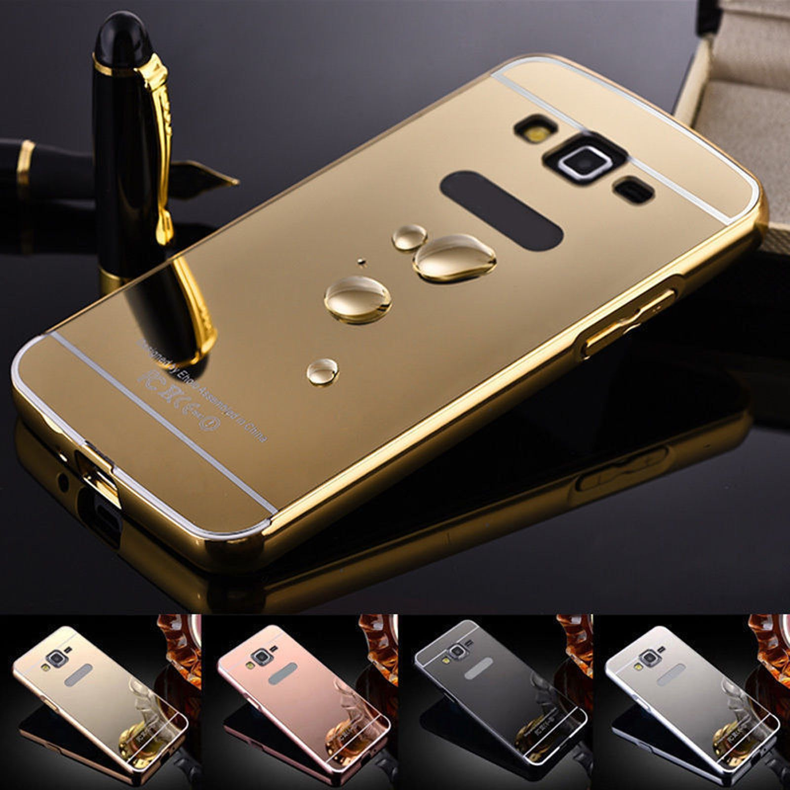 Ultra Thin Slim Aluminum Metal Bumper Mirror Case Cover For Samsung Galaxy Phone