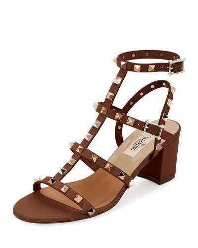 cd916fa695366 Rockstud Leather 60mm City Sandal