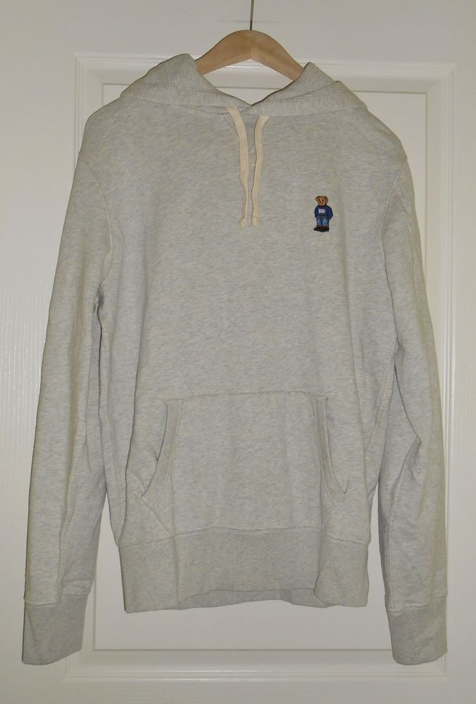 Teddy Sweatshirt Nwt Bear Lauren Men Hoodie Polo Gray Ralph Fleece gIbmY6f7yv
