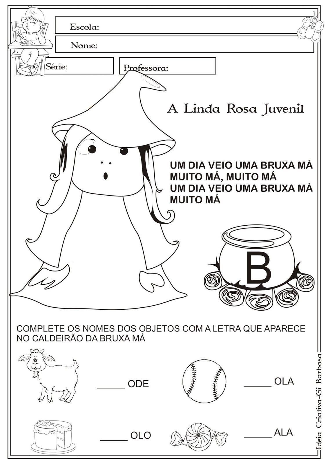A Linda Rosa Juvenil Atividades Jpg 1131 1600 Com Imagens