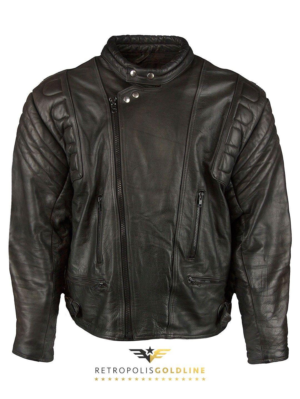Genuine Leather Cruiser Biker Jacket L