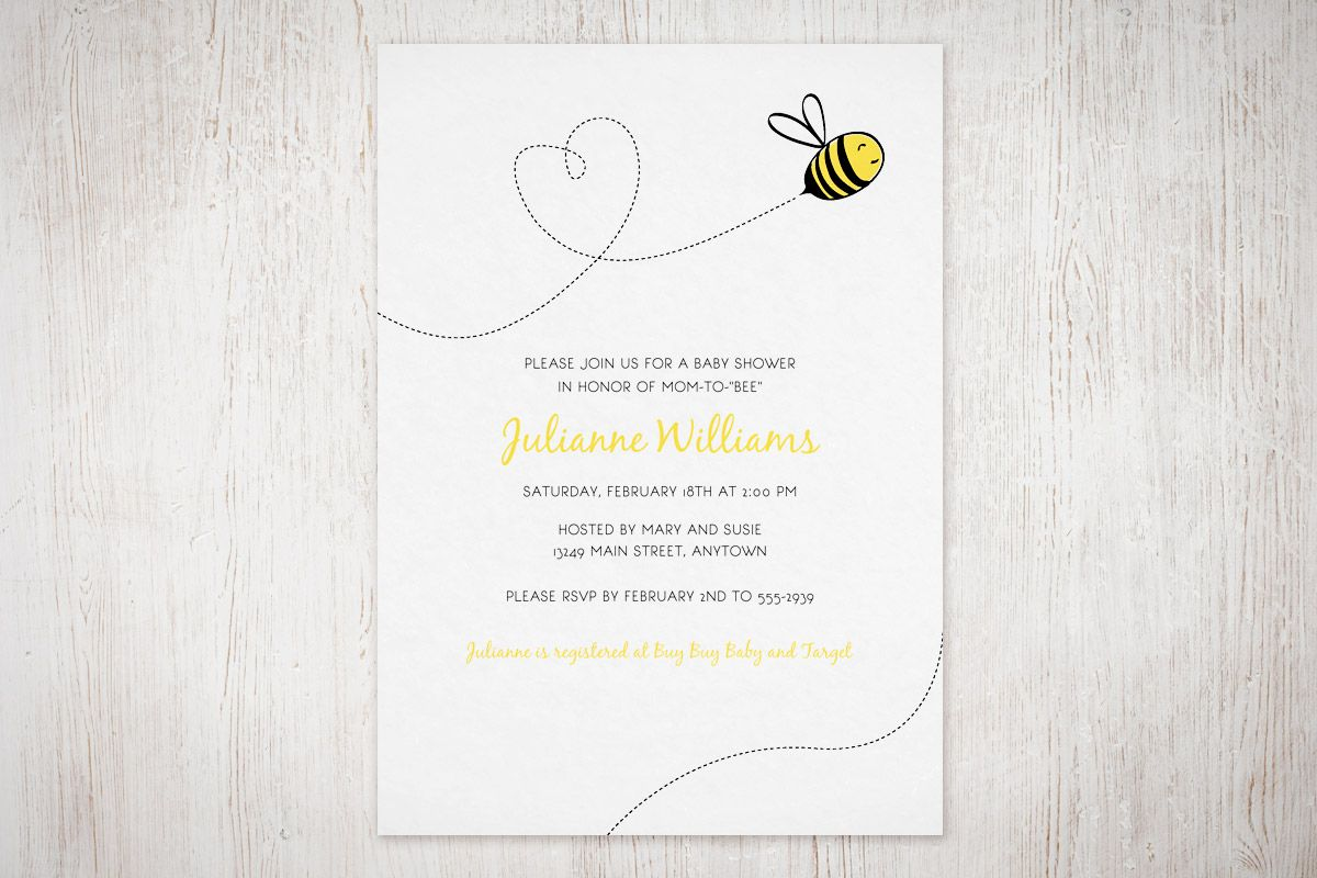 Bumble Bee Invitation FREE Printable
