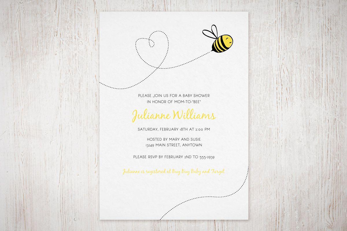 Bumble Bee Invitation Free Printable