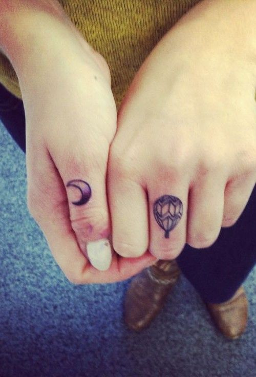 bafd3ed09 cute balloon tattoo. I wouldn't put it on my finger though. :) | ink ...