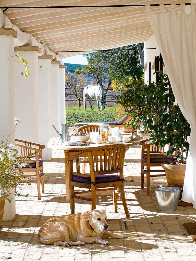 Cortinas fuera telas para exterior buenos tiempos las - Telas para terrazas ...