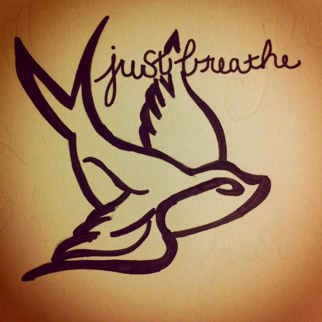 just breathe.tattoo idea
