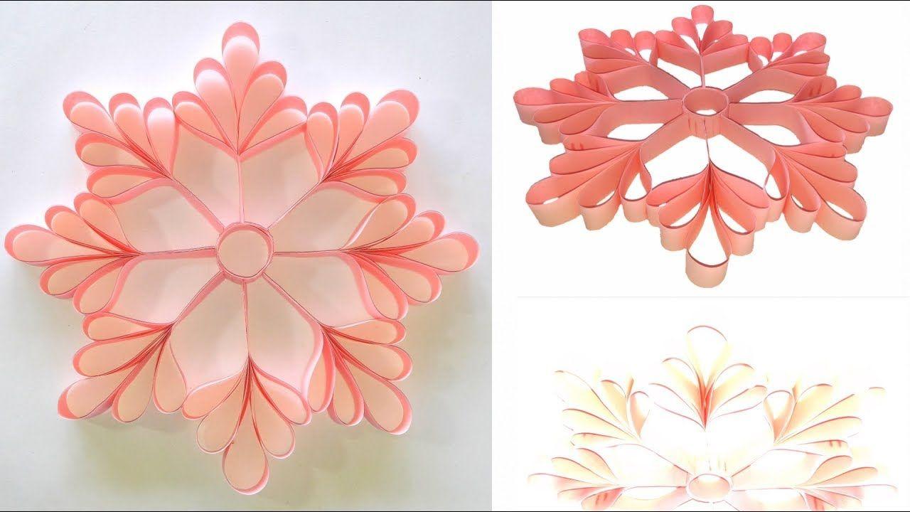 Diy Tutorial Creative Idea 3d Snowflake From Paper 2 Kreatif Bunga Kertas