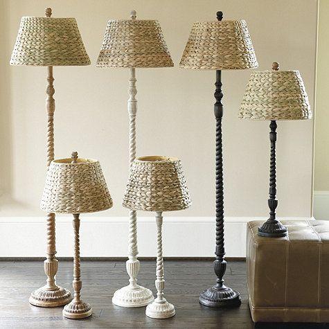 Tasseau Floor Lamp From Ballard Design Rubbed Black Base Seagrass Shade 109