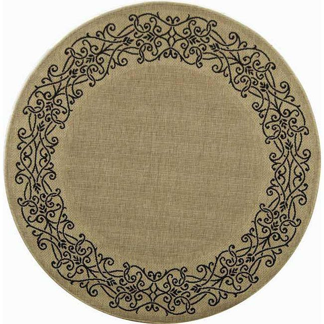 Safavieh Courtyard Sand Round Rug Macy S Outdoor Area