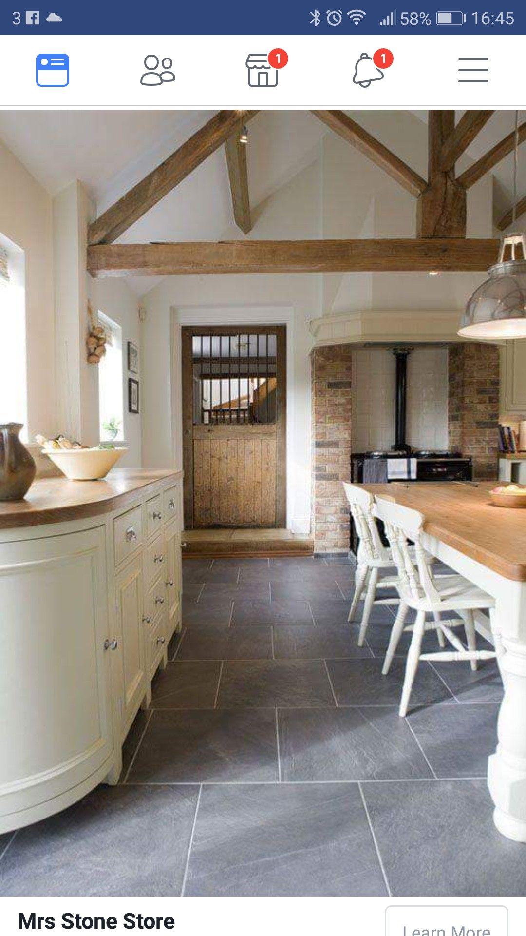 shakerstyle slate farmhouse range kitchengoals grey slate tile kitchen inspirations on farmhouse kitchen flooring id=41327