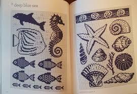 free cross stitch seashells - Cerca con Google